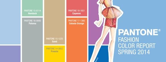 Pantone Fashion Colour Report for Spring 2014