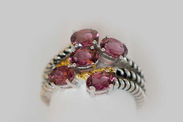 Rhodolite Ring