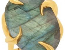 18k yellow vermeil Labradorite ring