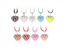 Angelique de Paris Safari Heart Pendants