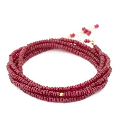Anne Sportun Ruby Wrap Bracelet Angela Betteridge Jewellery