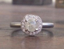 Anne Sportun One of a Kind Round Rosecut Diamond Ring