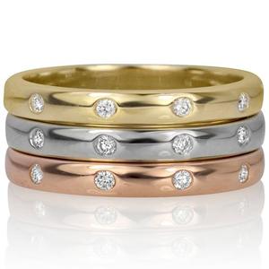 Diamond stacking gypsy rings