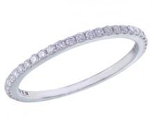 Half eternity diamond band in 14K white gold