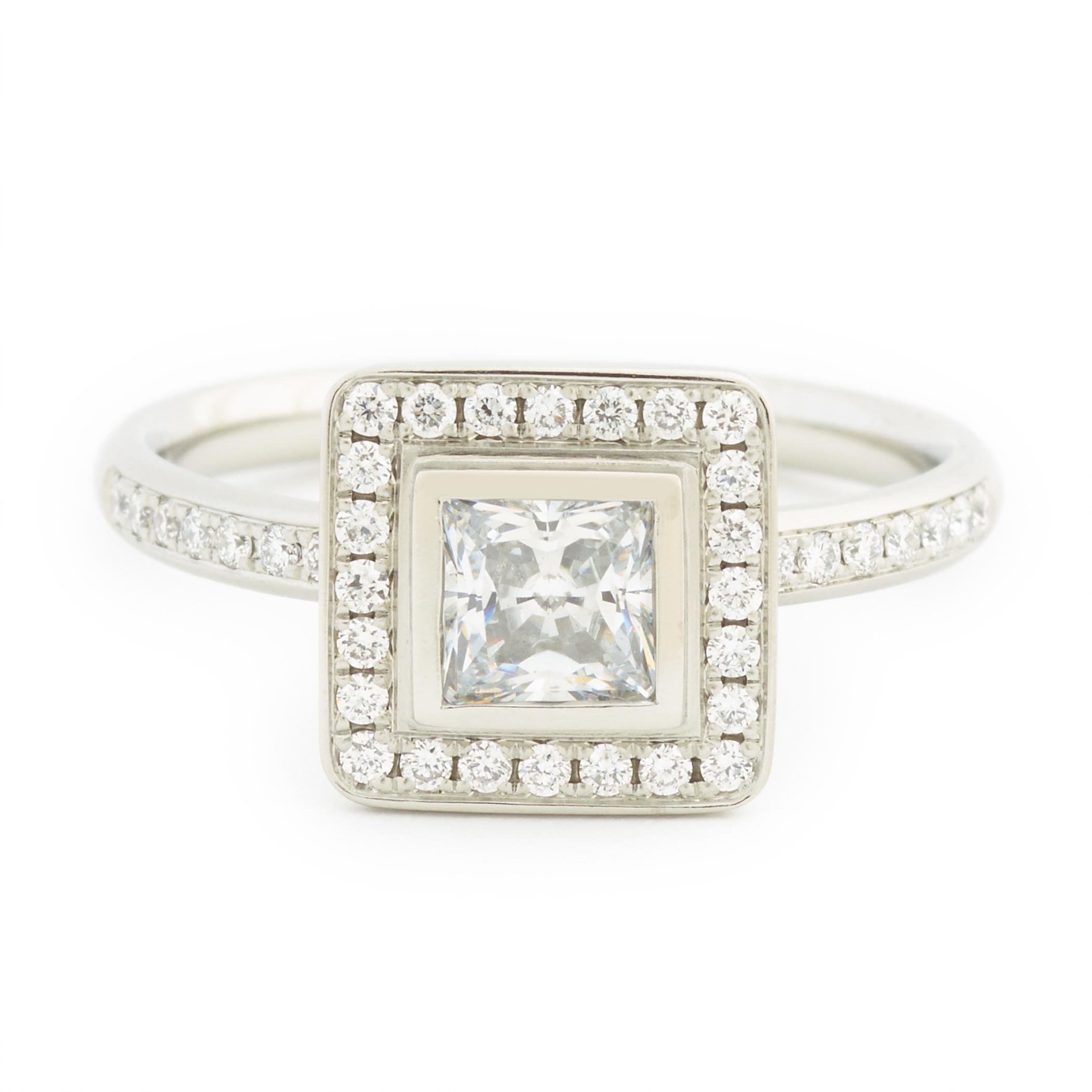 Princess Cut Diamond Rings Stone