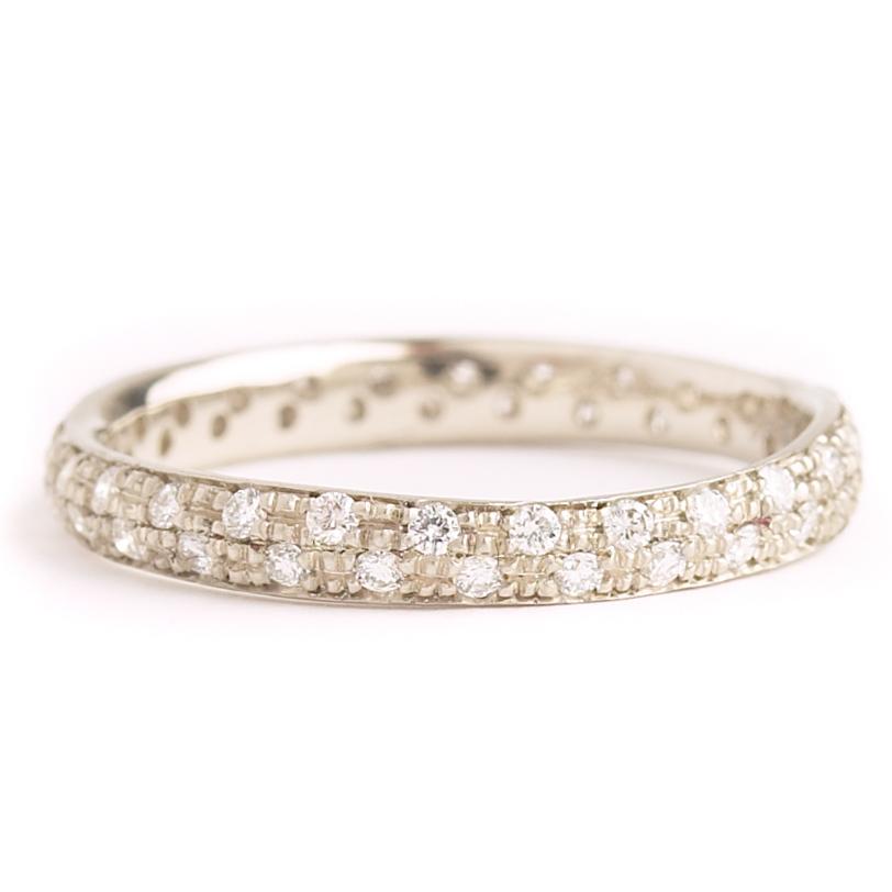 Narrow Diamond Eternity Rings