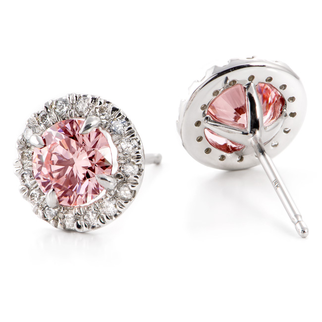 Fancy Intense Baby Pink Created Diamond Earrings