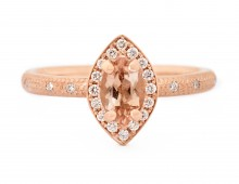 Anne Sportun Peach Marquise Rose Gold Ring
