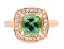 Anne Sportun Green Tourmaline Rose Gold Ring