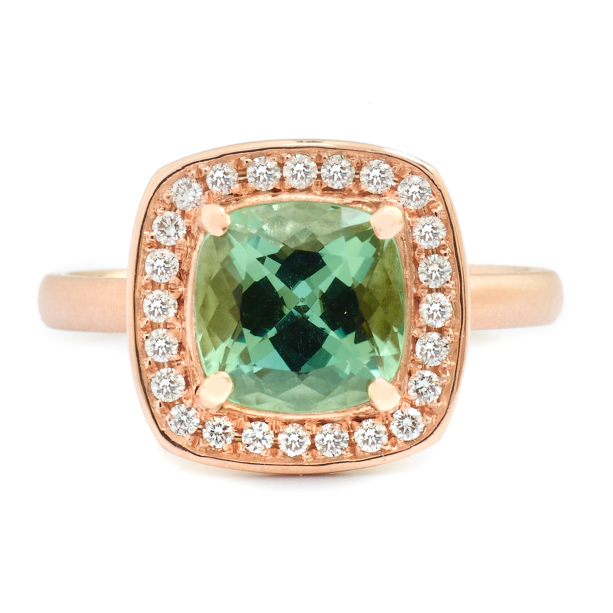 Anne Sportun Green Tourmaline Rose Gold Ring