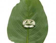 Keith Jack Rosail bandin 10K yellow gold and sterling silver with diamonds