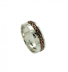 Keith Jack Fordoun wedding bandin 10K rose gold and sterling silver