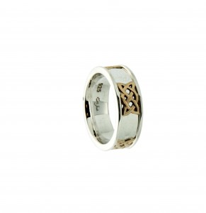 Keith Jack Dornal wedding bandin 10K yellow gold and sterling silver