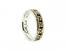 Keith Jack Braan wedding bandin 10K yellow gold and sterling silver
