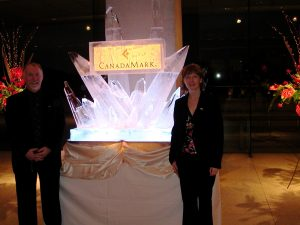 Clark McEwen and Angela Betteridge introduce CanadaMark Diamonds at a Reception at the Canadian Embassy in Tokyo 2005