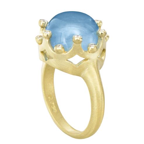dd63e92c0 Angela Betteridge Suzy Landa Aquamarine Crown Ring