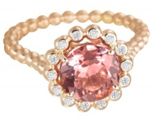 Suzy Landa Rose Tourmaline Rose Gold Ring