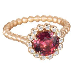 Suzy Landa Rose Tourmaline Rose Gold Ring