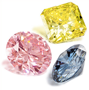 Created coloured diamonds