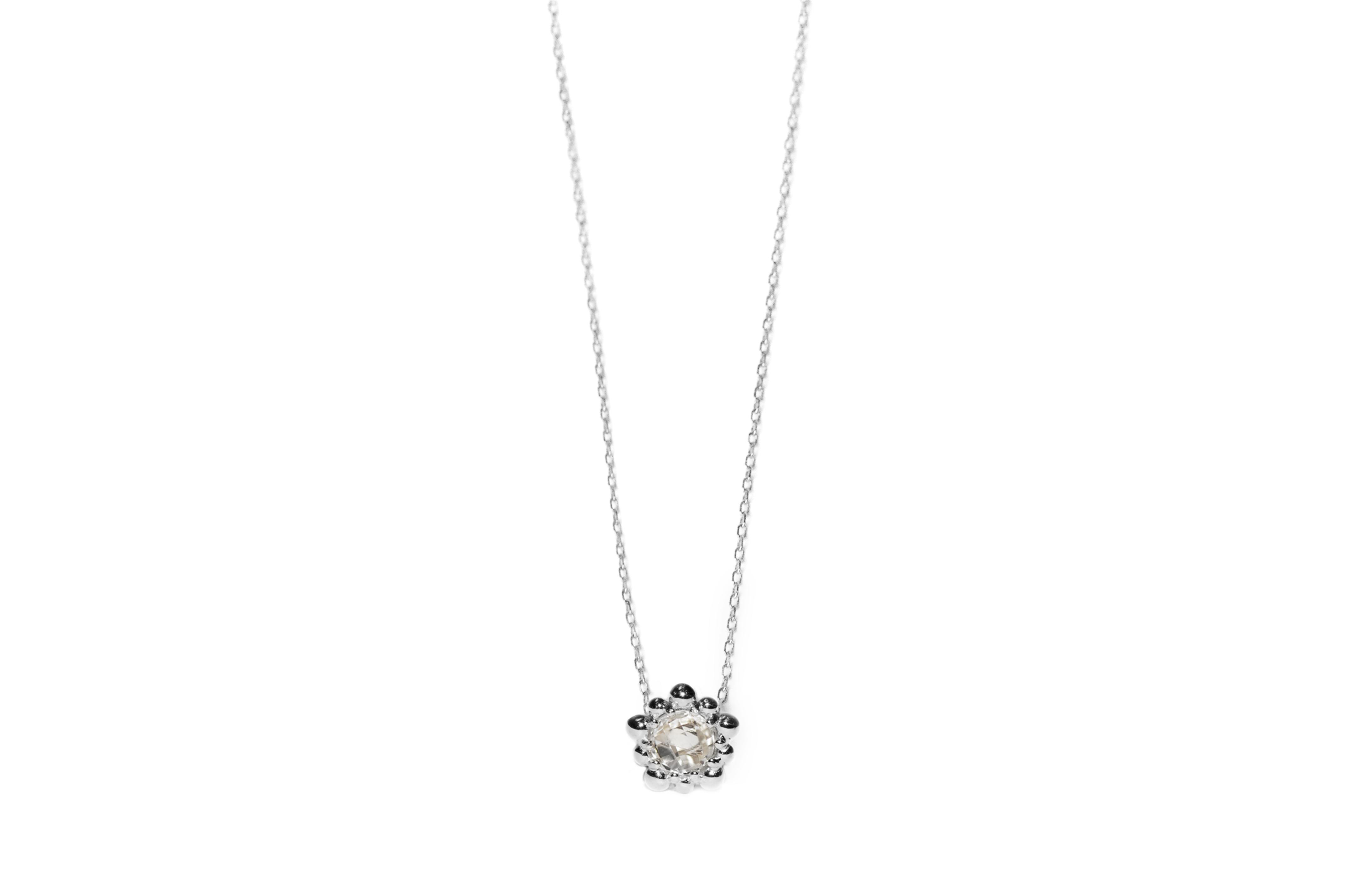 Anzie Micro Dew Drop Solitaire Necklace