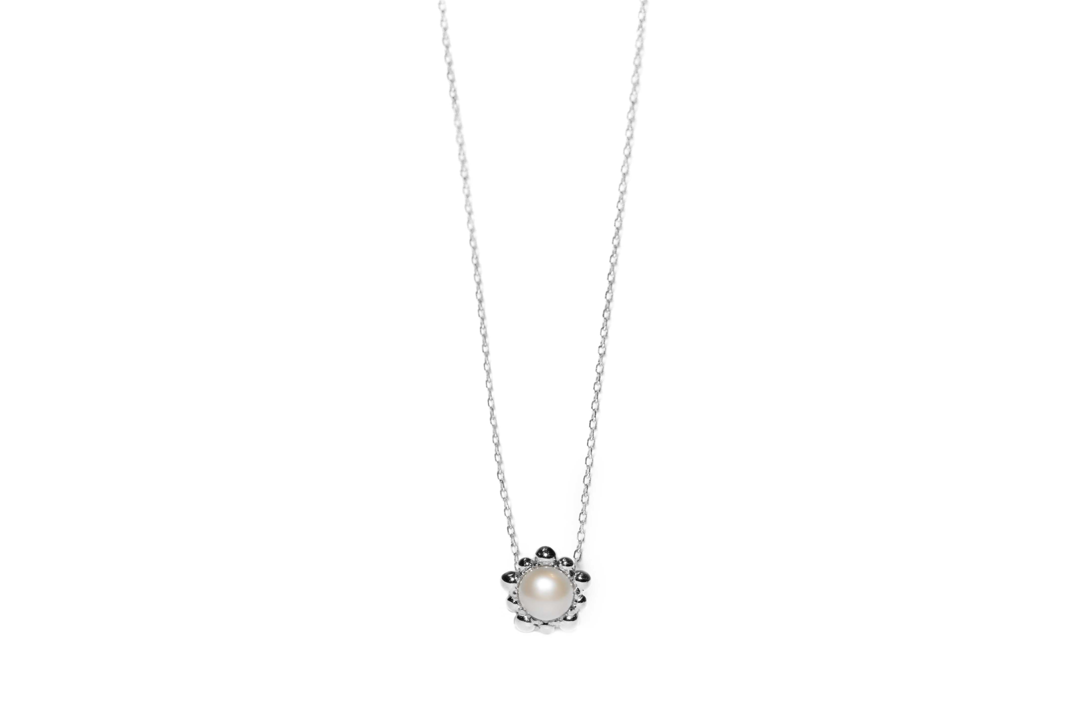 Anzie Micro Dew Drop Pearl Solitaire Necklace