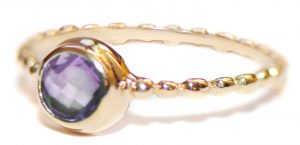 Anzie Dew Drop Amethyst Stackable Band