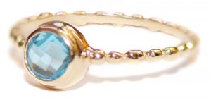 Anzie Dew Drop Swiss Blue Topaz Stackable Band