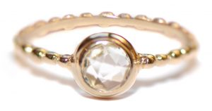 Anzie Dew Drop Clear Topaz Stackable Band