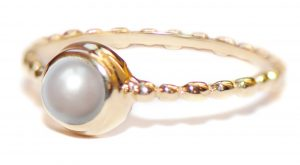 Anzie Dew Drop Pearl Stackable Band