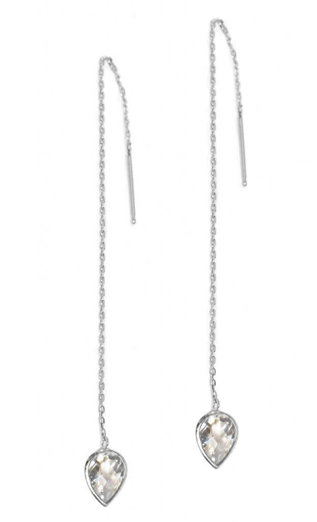 Anzie Classique Pear Chain Earrings