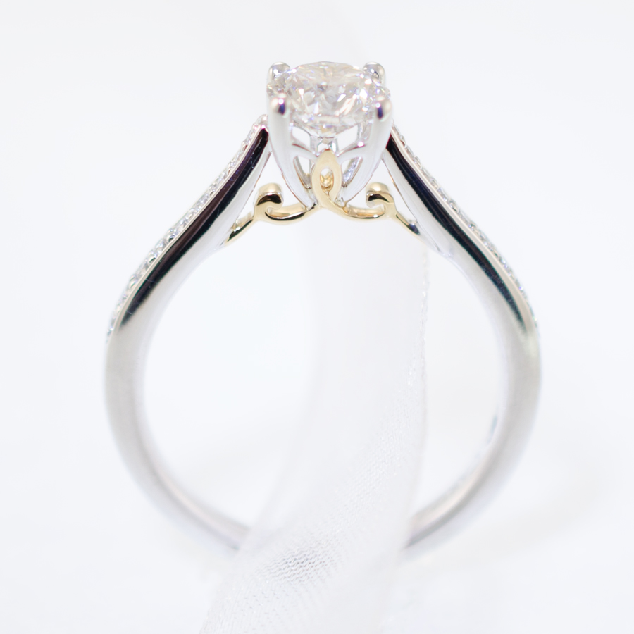 Cathedral Style Diamond Engagement Ring