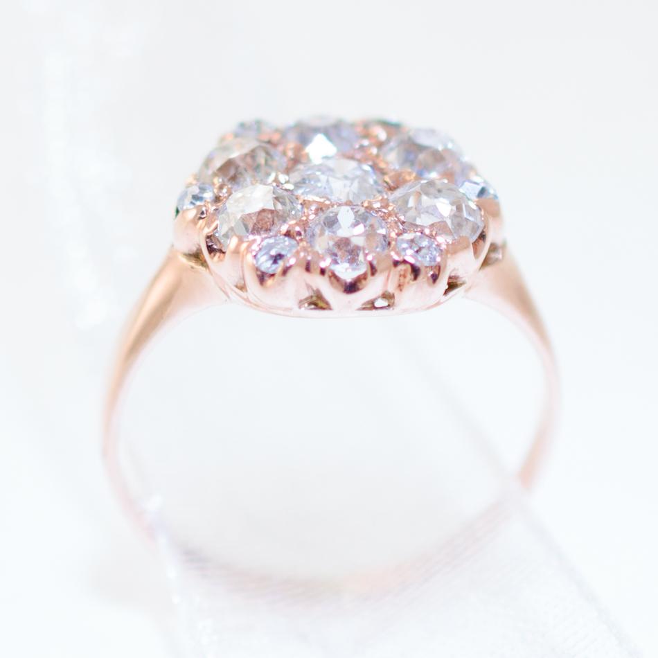 Vintage Cluster Ring Side